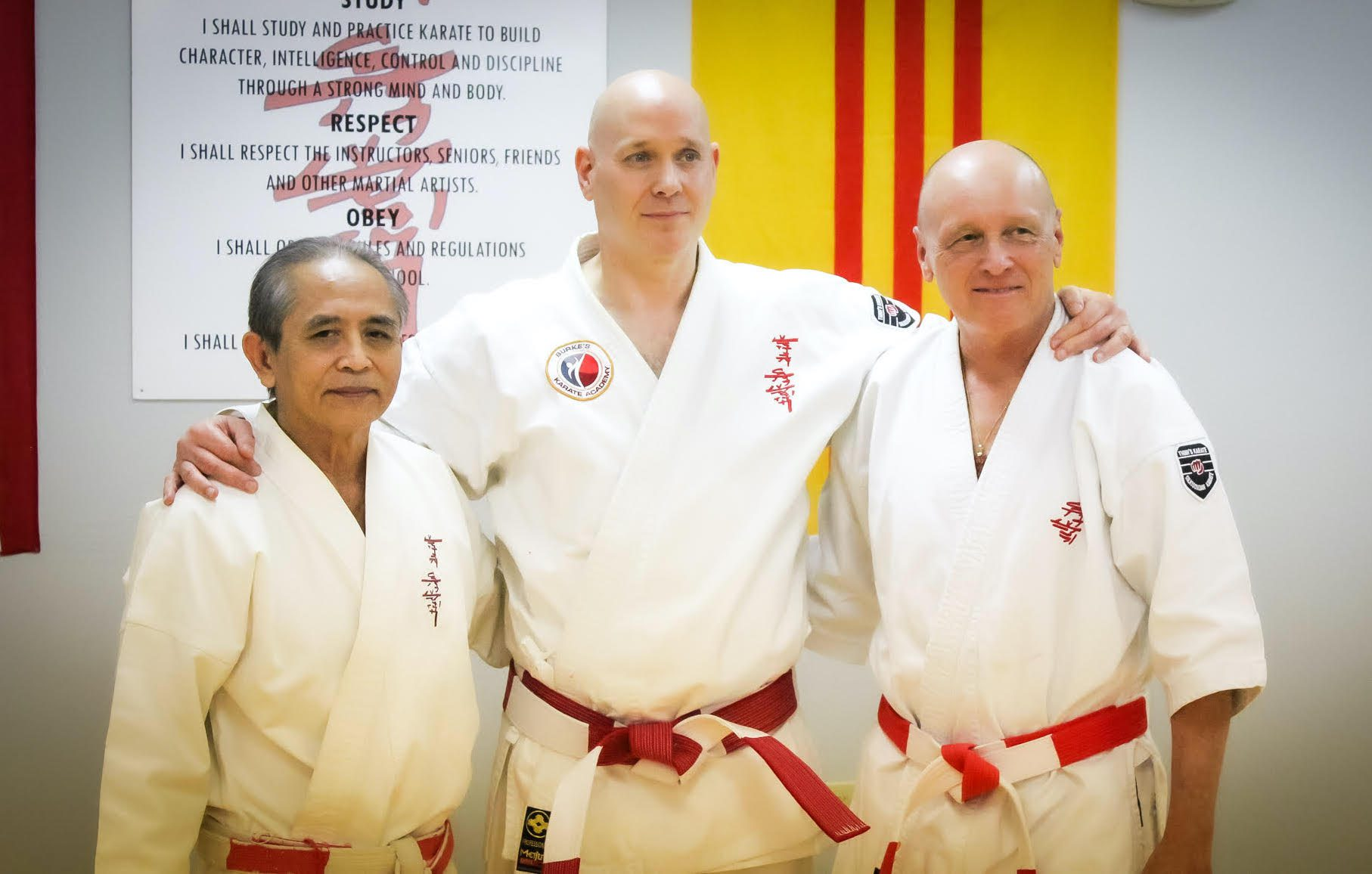 Burke's Karate members pose for a photo